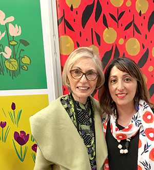 Leatrice Eiseman at Surtex 2017 with designer Misha Zadeh