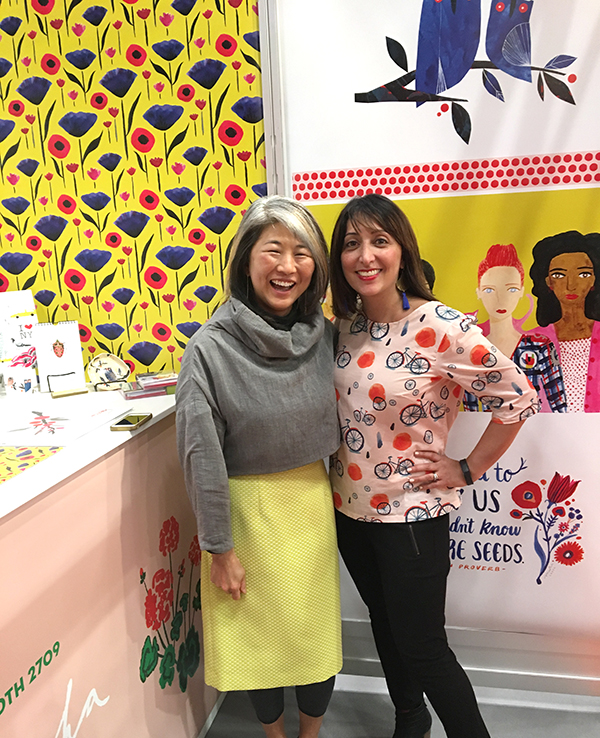 Seattle Designers Jana Nishi Yuen and Misha Zadeh at Surtex 2017