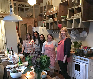Kristen Balouch hosts Misha Zadeh, Jeanetta Gonzales, Melissa Iwai and Karen Gustafson at her Brooklyn home for a memorable Persian meal