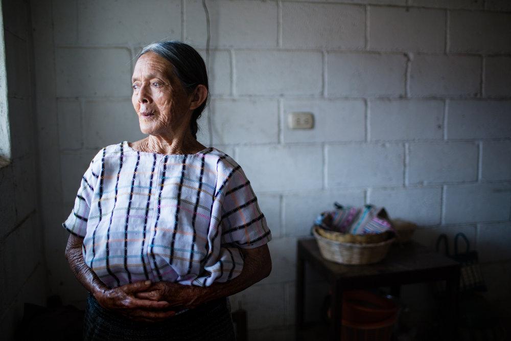 Doña Lucia, indigenous Tz'utijil elderly. Chukmuk, Guatemala.