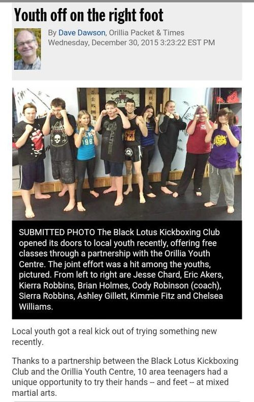 Kickboxing orillia