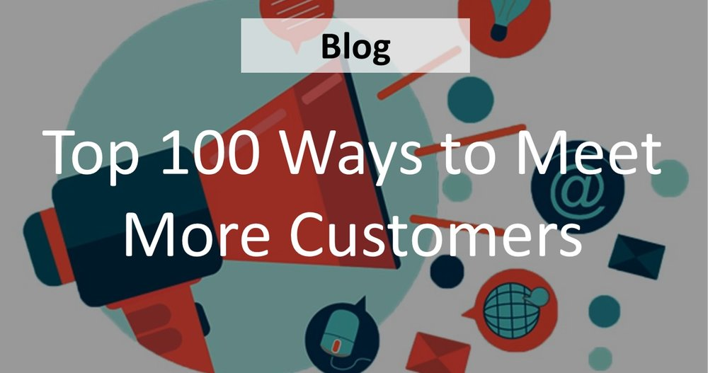 No matter what your field is, getting new customers is a lot of work.  The following 100 tips (yep,  one HUNDRED ) can help you market your small business effectively and connect with new customers            (  READ MORE  )