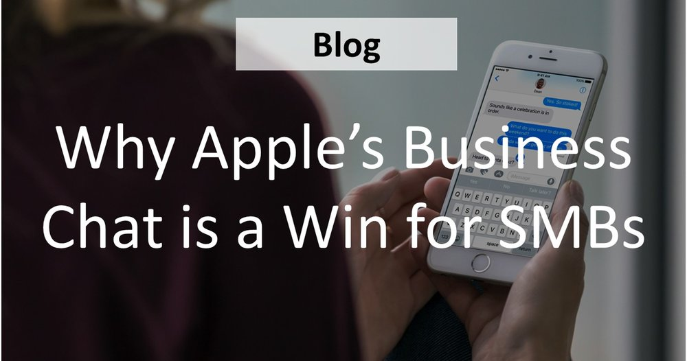 Apple's new  Business Chat  was announced on June 9th at WWDC.  If you dig into the heart of  Business Chat , there can be found some real benefits as to how much this highly-anticipated product can actually help small businesses of all types.            (  READ MORE  )