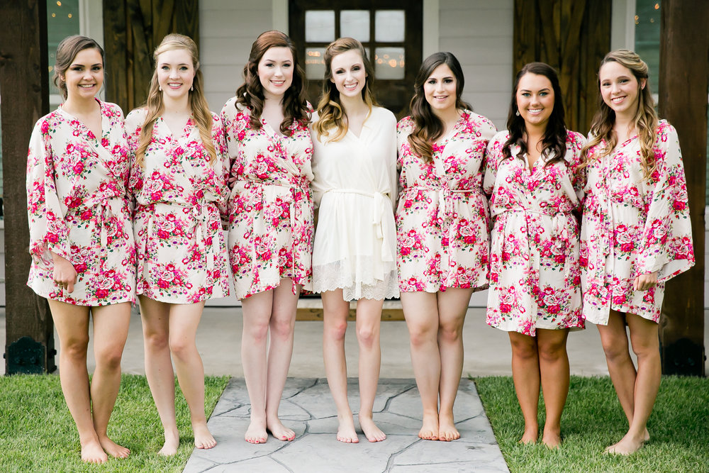 We love these bridal robes that Kayla and her girls wore!!!
