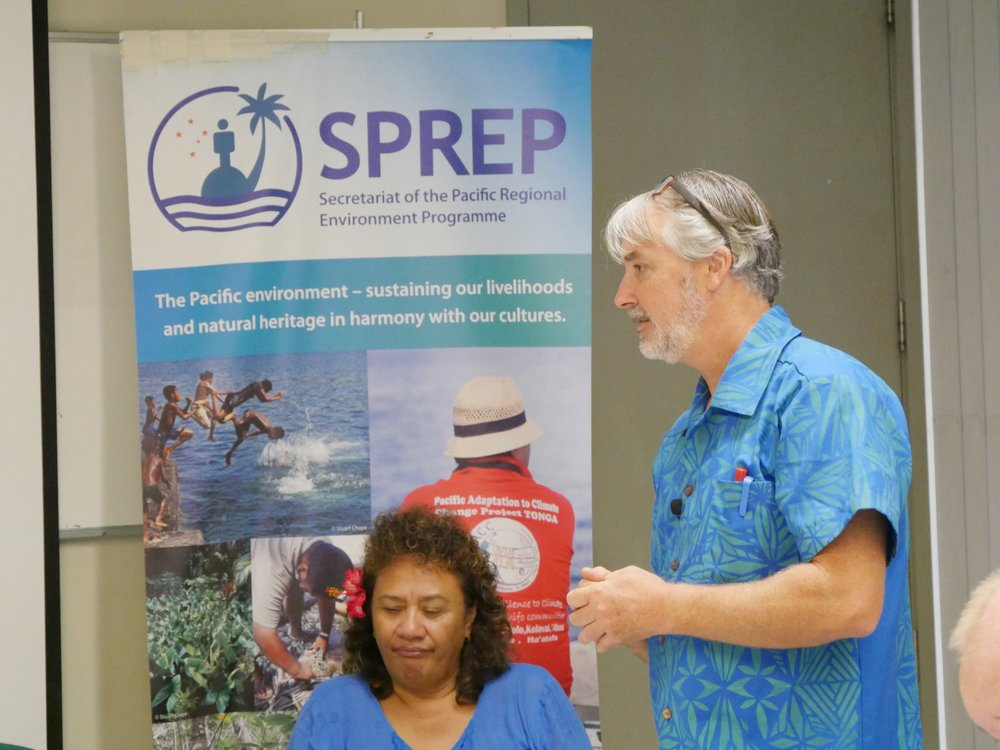 Nataij expert Peter Tierney leading a training session at SPREP.