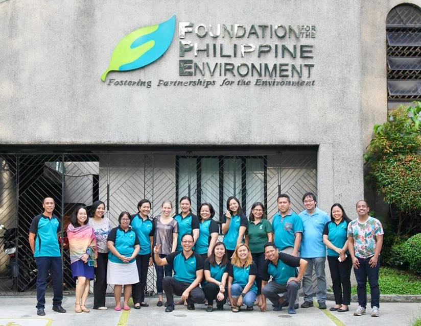 Group photo with members of the Foundation for the Philippine Environment team.