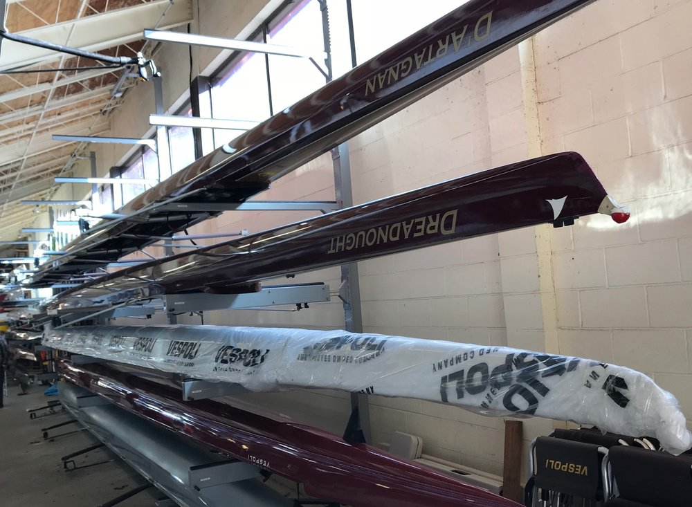 A NEW BOAT CAN LAST A DECADE OR MORE - Your $400 gift helps our club afford new (or new to us) shells to keep us competitive! New 8-rower boats cost around $45,000, so we take excellent care of our fleet to ensure our boats last and last.