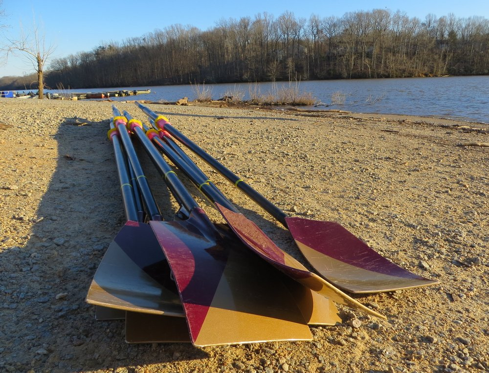 WE'RE NOTHING WITHOUT OUR OARS - A $300 gift helps purchase one new sweep oar — and we use 4 or 8 in each boat. New oars help the rowers maximize their efforts with each stroke, and a good set can last for many years.