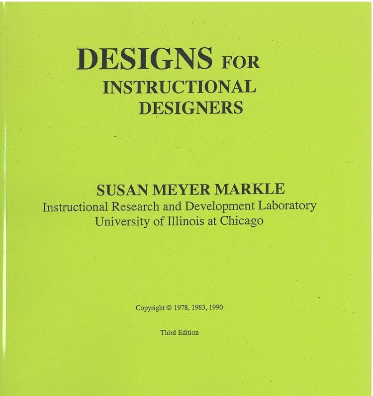 Designs For Instructional Designers Morningside Press
