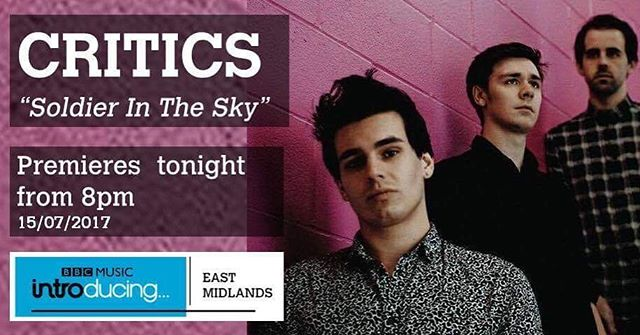 Want to hear a brand new exclusive track?? CRITICS will be on BBC Radio Nottingham tonight at 8pm. Tune in and tweet the show on @BBCnottingham on Twitter to request repeat plays!