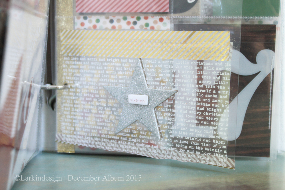 December Album 2015 | Day 16 using Ali Edwards December Daily Main Kit and One Little Bird Mini Kit