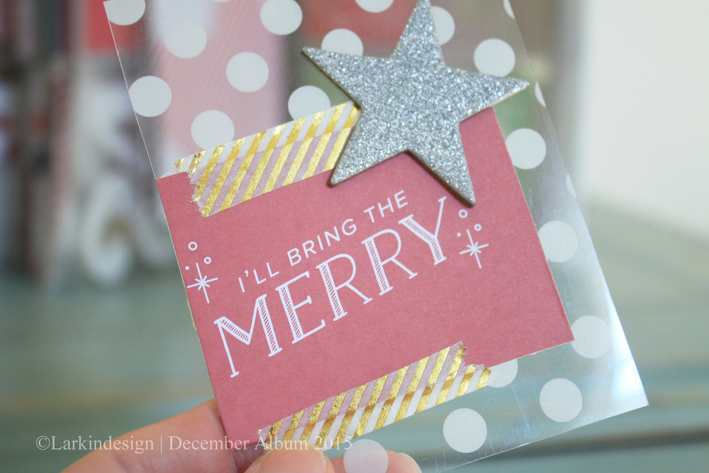 December Album 2015 | Embellishment card using Ali Edwards and One Little Bird kits