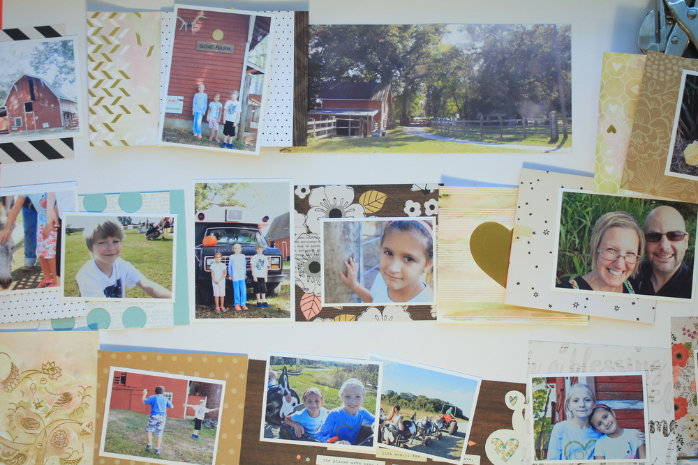 photos + paper = album layout