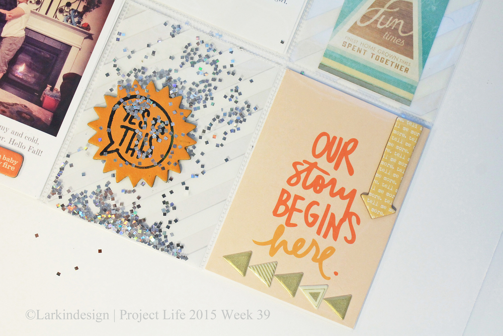 Project Life Week 39 Ali Edwards Spark Story Kit