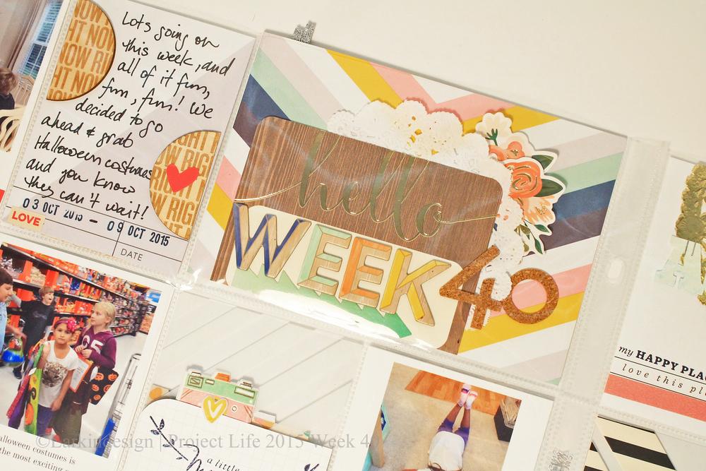 Project Life 2015 Week 40 Using Gossamer Blue Kits