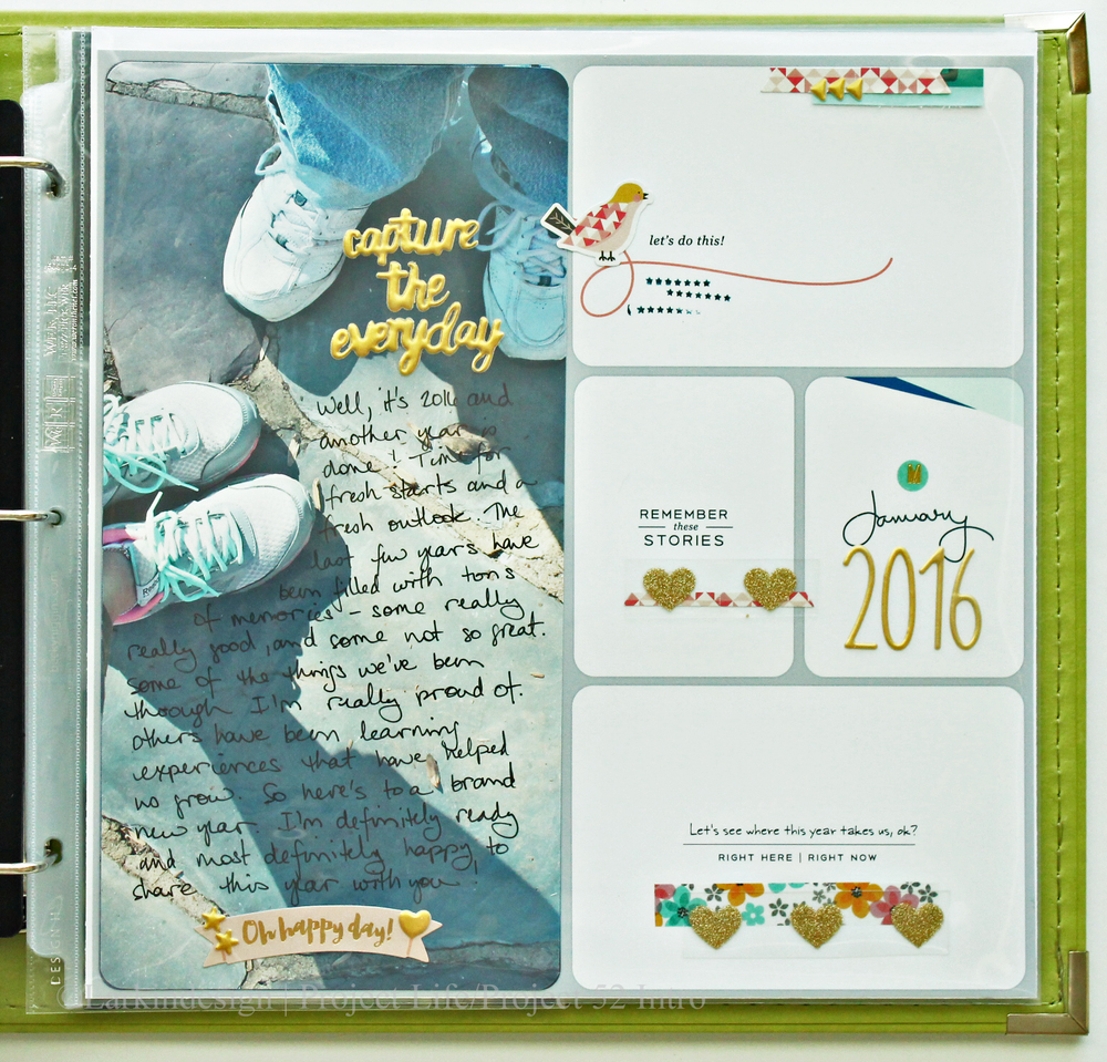 Project Life Project 52 2016 Introduction Layout