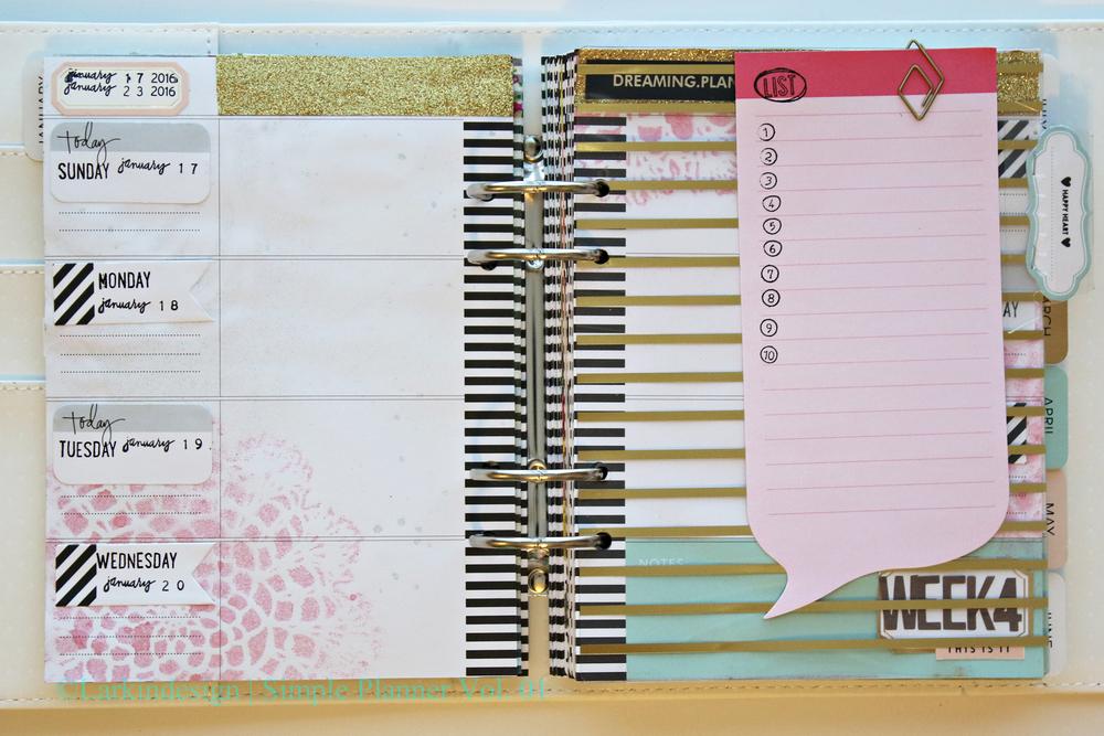 Simple Planner Vol 01