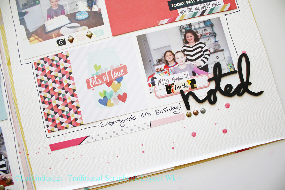 Traditional Scrapbook Layout Week 04