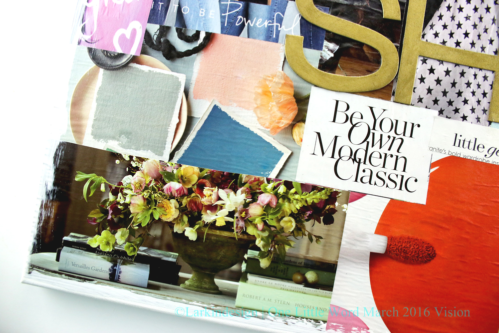 One Little Word March 2016 Vision Board