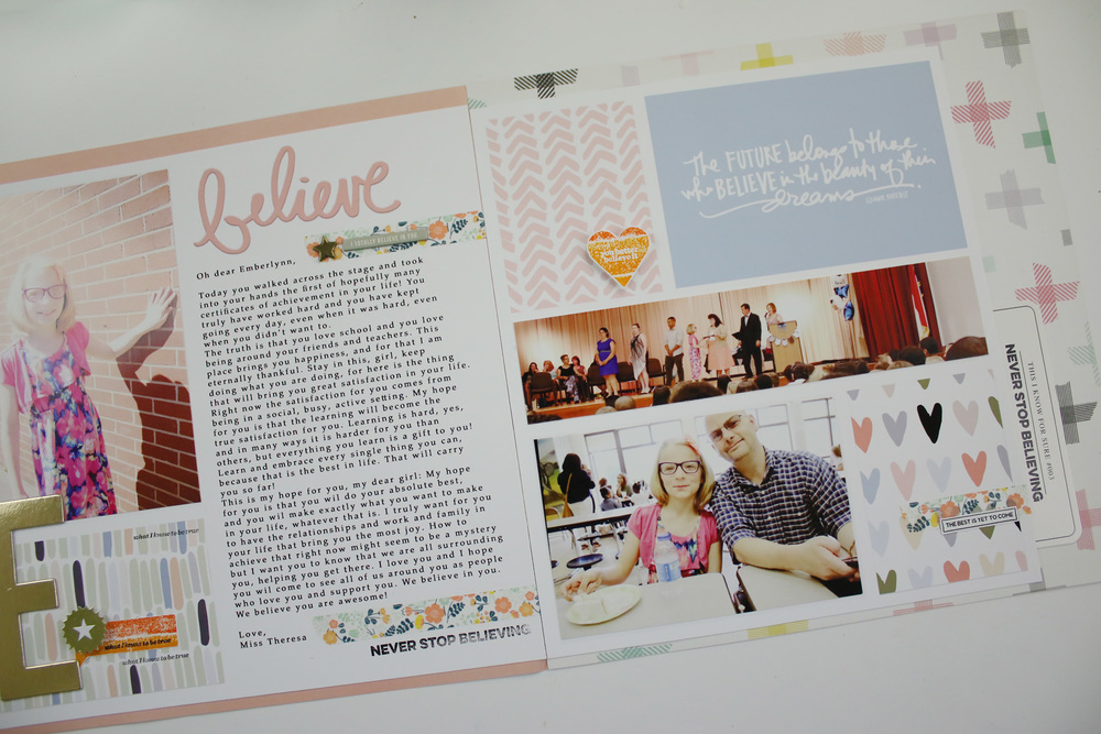 Hybrid Scrapbook Layout Believe