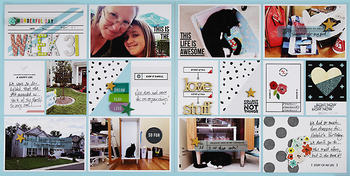 Sahlin Studio Creative Team Layout | Project Life 2016 Week 31