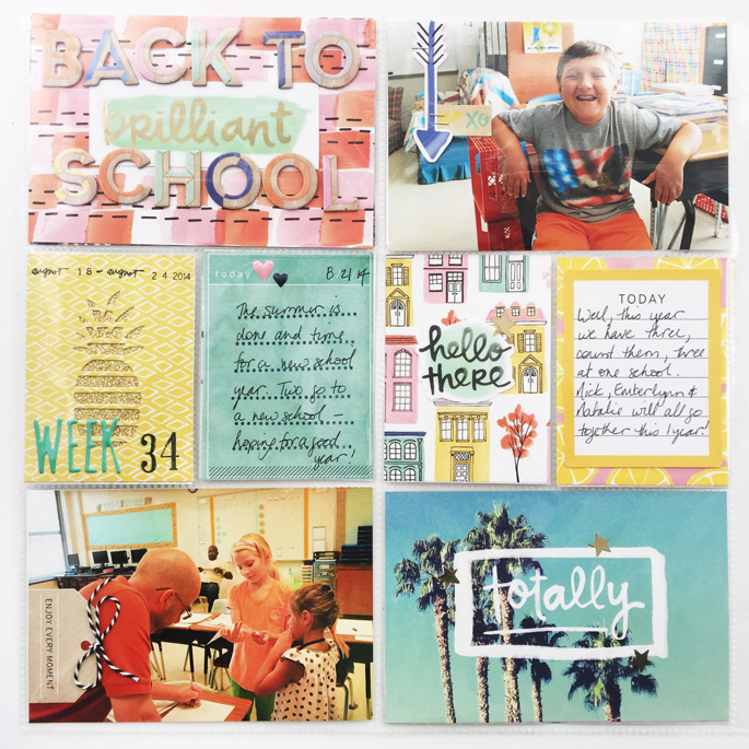 Larkindesign TBT Project Life 2014 Weeks 34 & 35 | Amy Tangerine Finders Keepers!!!!
