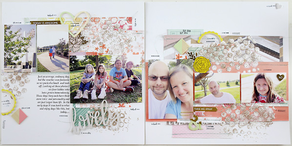 Larkindesign {Lovely} Working With a Sketch | A Traditional Layout Featuring Pink Paislee Take Me Away!!!!