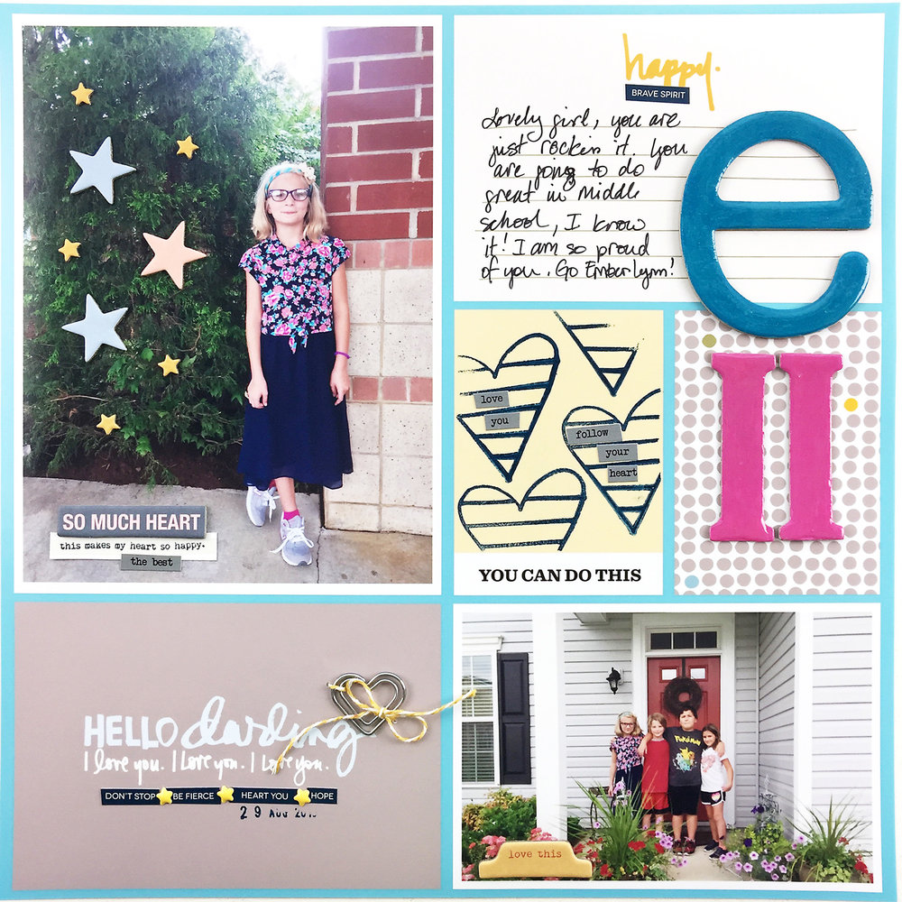 Larkindesign Project Life 2016 Week 35 Back to School Part 2