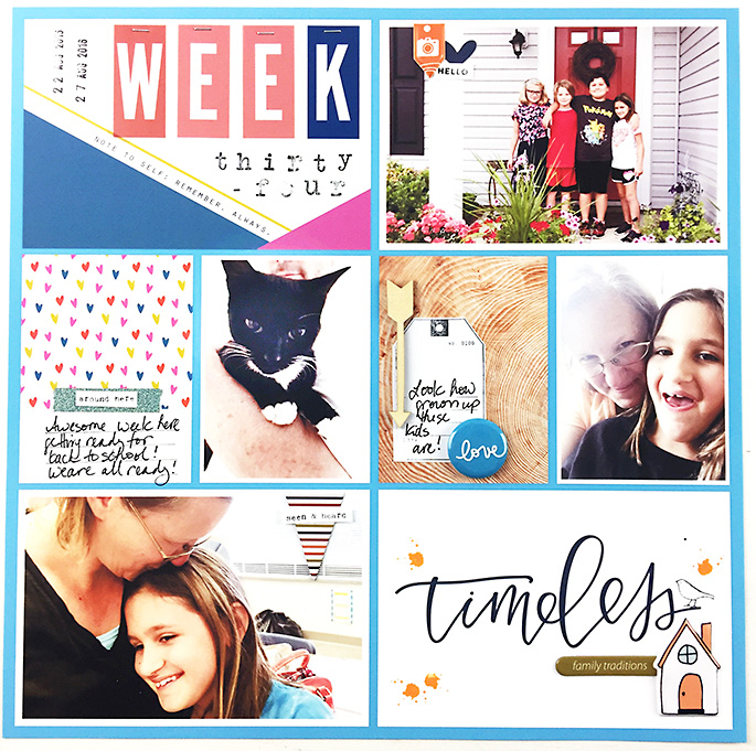 Larkindesign Project Life 2016 Week 34