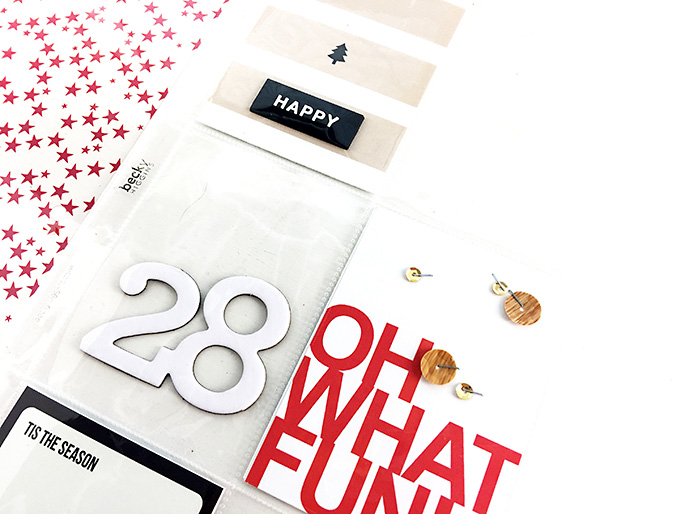 Larkindesign Sahlin Studio Creative Team {December Album 2016} Foundation Pages using Oh What Fun!