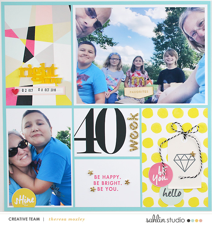 Theresa Moxley Project Life 2016 Week 40 | Sahlin Studio Shine Bright and Numbers Cards