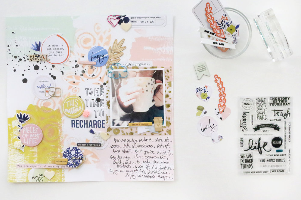 Larkindesign {Traditional Layout} Things I Need to Hear | Take Time To Recharge