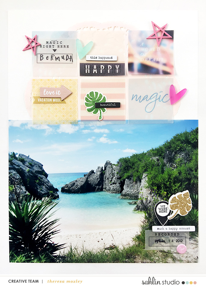 Larkindesign Bermuda Honeymoon Album | Layout 02 Horseshoe Bay (Hybrid)