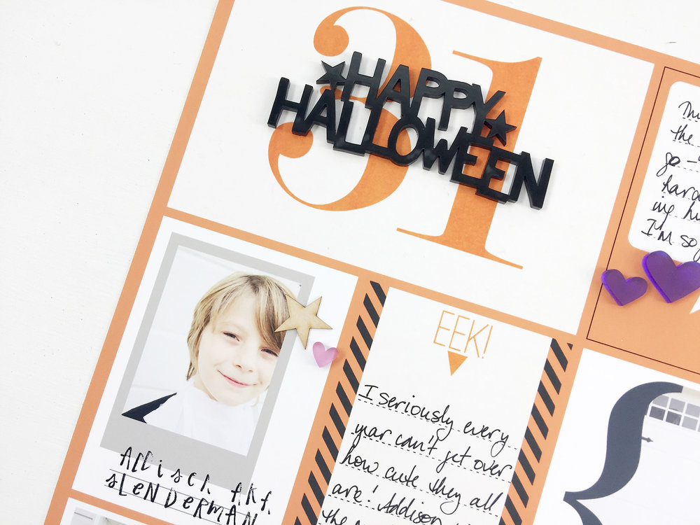Larkindesign Project Life 2016 | Halloween Layout ft. Project Mouse Halloween!!!