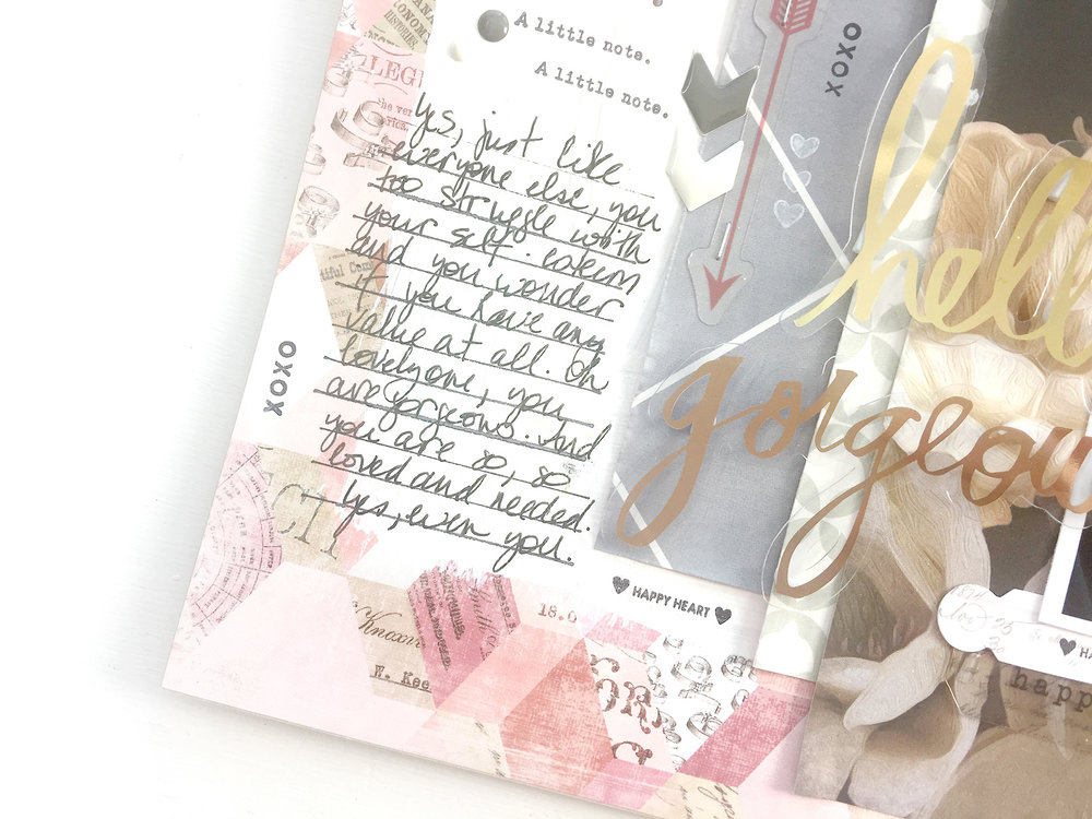 Larkindesign Traditional Mixed Media Layout | Hello Gorgeous
