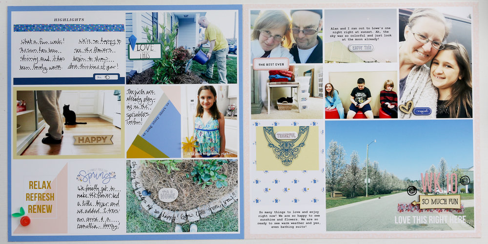 Larkindesign Project Life 2017 Week 10