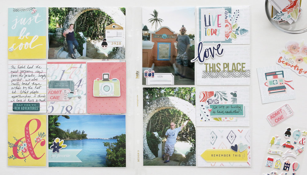 Larkindesign Bermuda Album Layout No. 06 | Love This Place ft. Dear Lizzy Lovely Day