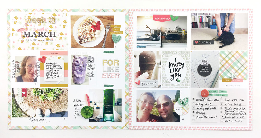 Paislee Press Guest Designer Theresa Moxley | Project Life 2017 Week 13 ft. For Like Ever Kit
