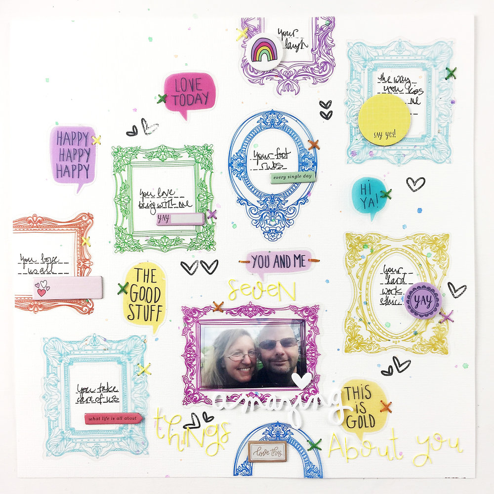Larkindesign ***NEW SERIES***Use It Up!!!! | A Traditional Layout Called Seven Amazing Things