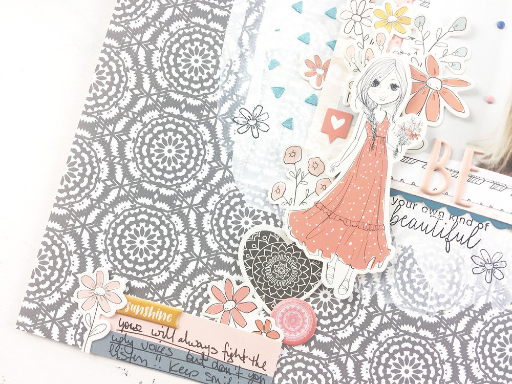 Larkindesign My Very First Felicity Jane Kit Willow | A 12x12 Layout BE