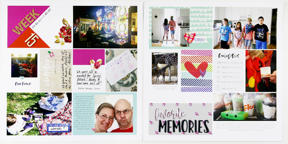 Larkindesign Hybrid Project Life |2017 Week 15 ft. The Lilypad Memory Pockets Monthly June Curious