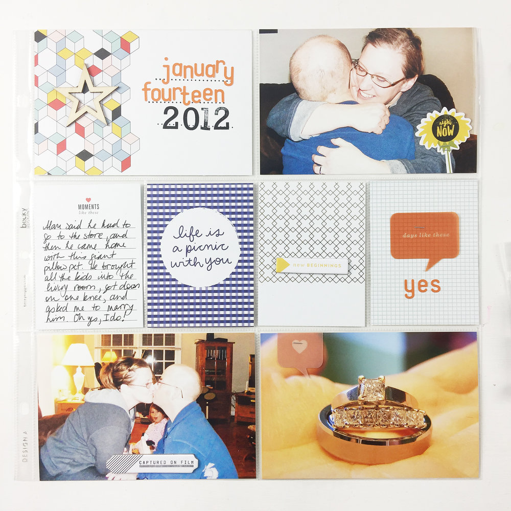 Larkindesign 2012 Project Life January 14 The Day We Got Engaged!!!! ft. Studio Calico Documenter Kits