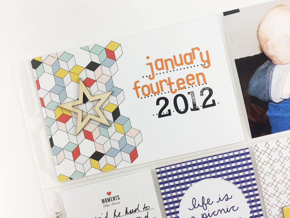 Larkindesign 2012 Project Life January 14 The Day We Got Engaged!!! ft. Studio Calico Documenter Kits!!!