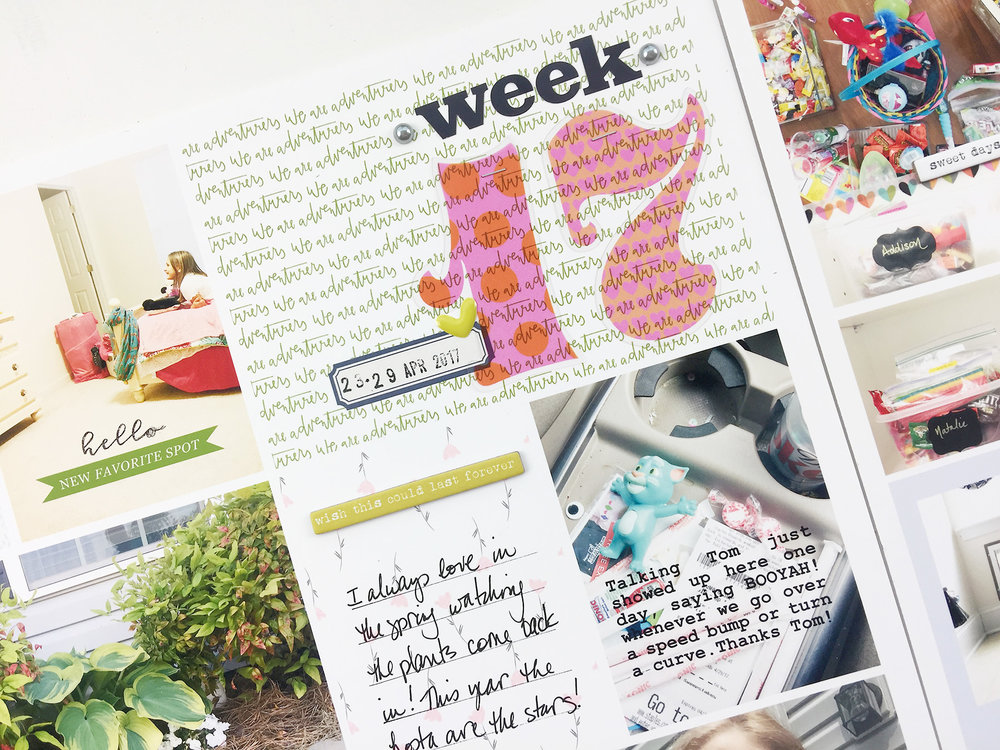 Larkindesign Hybrid Process | 2017 Project Life Week 17 ft. Freckled Fawn