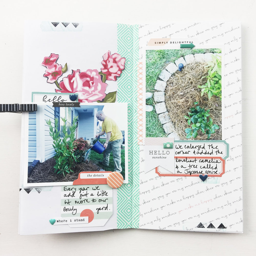 Larkindesign Traveler's Notebook | 2017 Gardener's Notebook Hello Sunshine ft. Gossamer Blue!