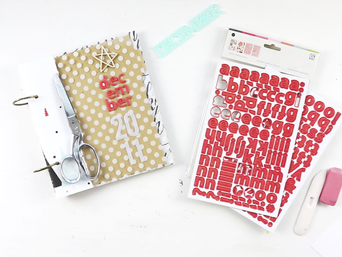 Larkindesign #scrappyChristmasinJuly | December DailyISH 2011 Pt 01