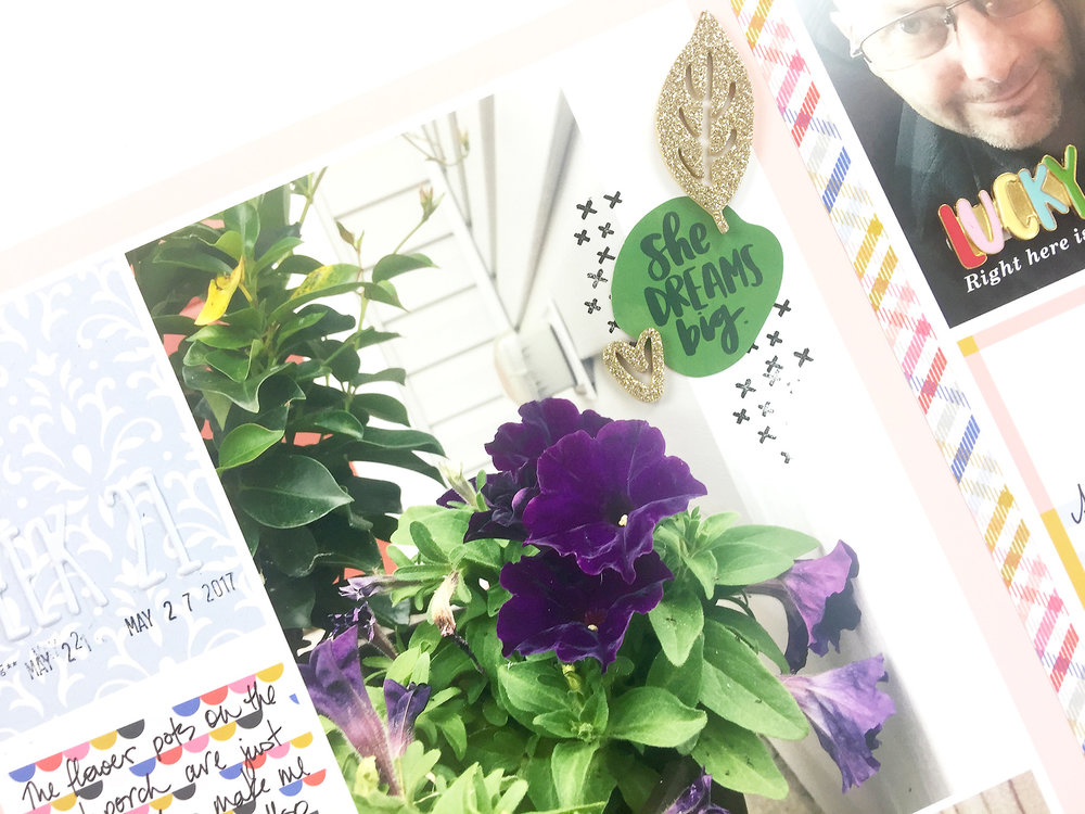 Larkindesign Project Life 2017 Week 21   ft. Amy Tangerine Hustle & Heart!!!
