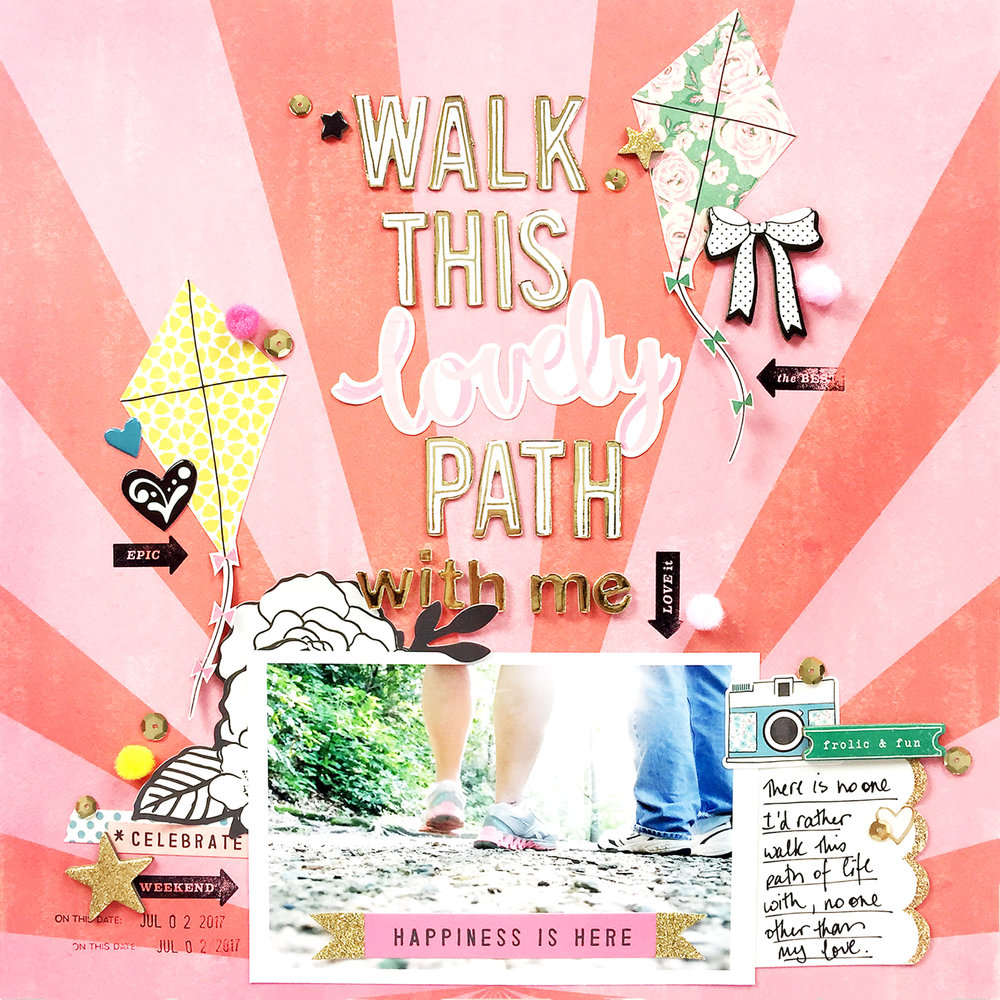 Larkindesign Traditional 12x12 Layout | Walk With Me ft. Maggie Holmes Carousel!!!!!!