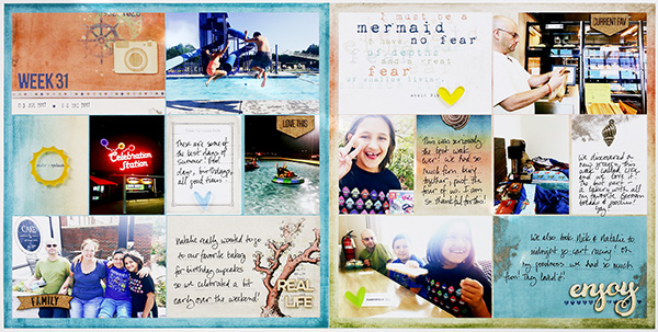 Larkindesign Hybrid Project Life 2017 Week 31   ft. On A Whimsical Adventure Catching Waves!!!