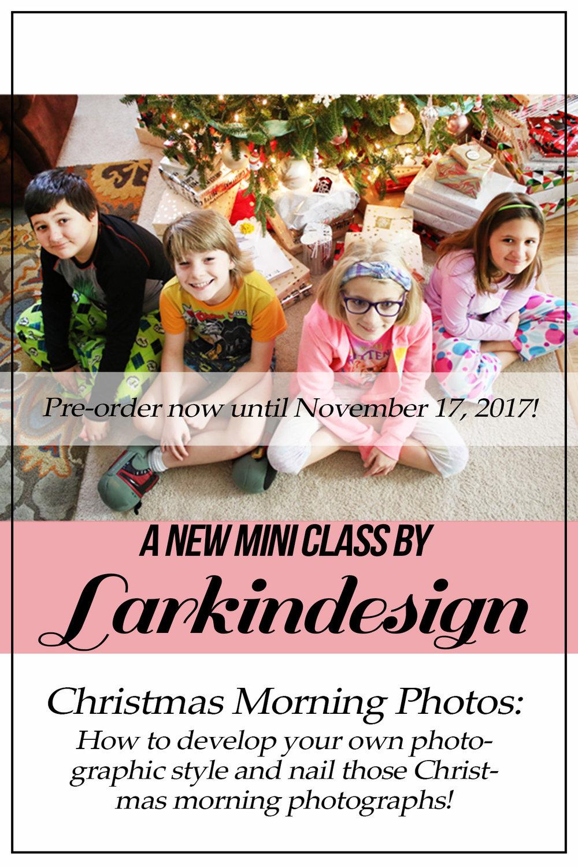 Larkindesign | Christmas Morning Photos: A New Mini Class!!!